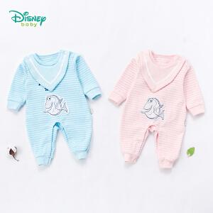 迪士尼Disney童装婴儿衣服秋季新款多莉小丑鱼长袖连体衣男女宝宝肩开扣纯棉爬服183L762