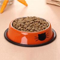 萌味 狗盆 新款通用不锈钢加厚防滑猫狗单碗饭盆可爱食盆食具宠物用品