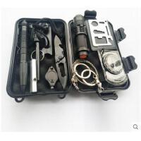 工具套装旅行车载求生组合箱多功能急救装备野外生存工具盒户外探险套装
