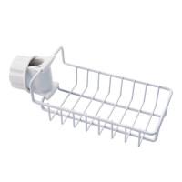 水龙头不锈钢置物架厨房用品抹布收纳架免打孔水槽海绵沥水架
