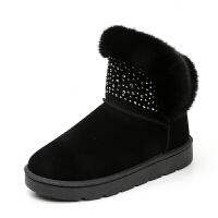 雪地靴女短筒冬季2018新款棉鞋加绒保暖短靴韩版百搭学生毛毛鞋女