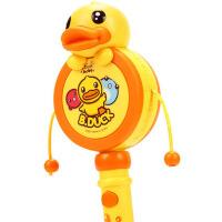 婴儿玩具0-1岁宝宝新生儿男女孩玩具摇铃0-3-6-12个月拨浪鼓 小黄鸭拨浪鼓