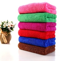 珊瑚绒毛巾吸水小方巾擦车巾擦手巾干发巾厨房抹布毛巾 0x0c/