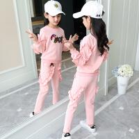 女童秋装套装女孩秋季两件套中大童洋气潮运动服