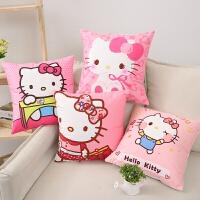 可爱卡通Hello Kitty猫抱枕套KT猫凯蒂猫汽车沙发靠枕靠垫礼物