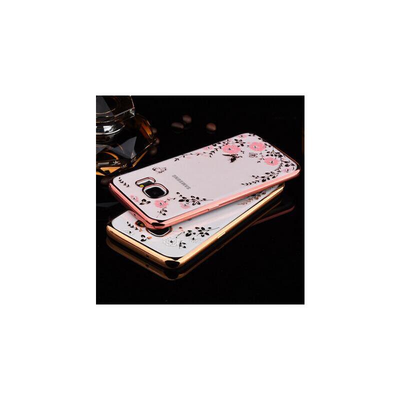 【正品包邮】三星S7 edge手机外壳s7硅胶壳s7曲屏手机壳S7直屏软套奢华G935a手机套镶钻透明软壳G9350保护套男女电镀壳支持货到付款 超薄散热 透明软壳 奢华电镀