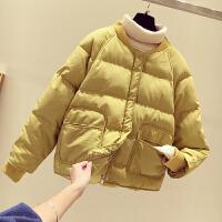 羽绒女冬季韩版加厚棒球服棉衣短款面包服棉袄外套潮