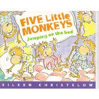五只猴子在床上蹦蹦跳英文原版绘本 Five Little Monkeys Jumping on the Bed 低幼儿童