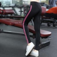 新款女士高弹运动裤健身房跑步瑜珈显瘦九分裤 韩版速干瑜伽服紧身运动长裤女