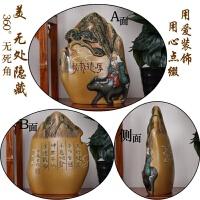 中式书柜古董博古架摆件客厅创意酒柜装饰品家庭摆设个性小工艺品 金色 浮雕山形双面欣赏
