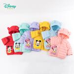 【限时抢:139】迪士尼Disney童装 男女童熊耳连帽羽绒服冬季新款米老鼠卡通印花保暖外套194S1194
