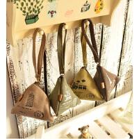 韩国可爱创意钱包帆布复古粽子零钱包硬币包端午节礼品