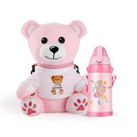 316不锈钢儿童保温杯带吸管两用宝宝幼儿园水杯