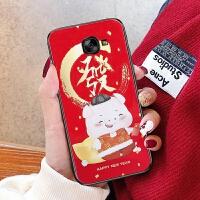 三星a5200手机壳galaxya5套新款Samsunga5大红色sm-a520f男女秋冬sm一a5