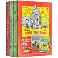小屁孩树屋历险记1-3册盒装 英文原版 The 13 26 39 Storey Treehouse 疯狂树屋历险记 英
