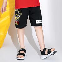 【2件3折价:48.9元】大黄蜂童装 男童运动裤2020夏季新款小男孩韩版五分裤IP联名短裤