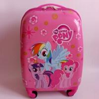 儿童拉杆箱 小马宝莉旅行箱 18寸方形万向轮紫悦 穗龙 登机