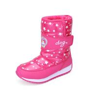 女童鞋冬儿童加绒厚底雪地靴Dabc2018新款长筒靴子