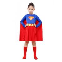 六一万圣节服装超人化妆舞会男女演出服衣服披风套装