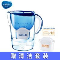 BRITA碧然德家用净水器净水壶海洋系列3.5L蓝+去水垢加强版滤芯12枚【1壶13芯】