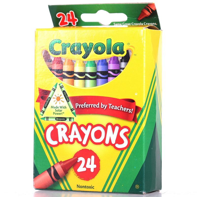 当当自营Crayola 绘儿乐 24色彩色蜡笔 52-3024【当当自营】美国儿童绘画品牌,绘本绘画用蜡笔