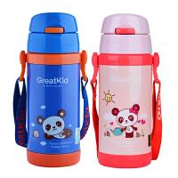 儿童保温杯带吸管杯304不锈钢学生宝宝水杯水壶