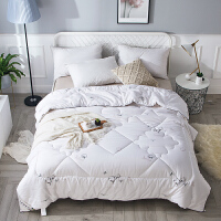 纯棉花被子新疆棉花被芯天然里外全棉加厚冬被单双人春秋被褥 白色 小棉朵