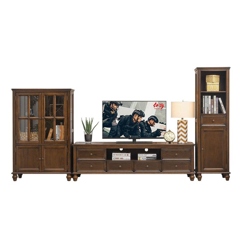 美式乡村实木家具套装客厅家具现代简约电视机柜子电视柜茶几组合 +矮柜 整装 一般在付款后3-90天左右发货,具体发货时间请以与客服协商的时间为准