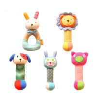 婴儿手摇铃布纯棉 婴幼儿毛绒玩具宝宝摇铃婴儿玩具用品早教 抖音