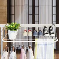 窗气台折叠晾衣架窗外晒衣架阳台挂衣晾晒架室内暖片晒鞋架伸缩杆 【中号】暖气片晾衣架