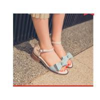 女童凉鞋大童蝴蝶结公主学生鞋新款童鞋小女孩高跟鞋