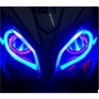 踏板摩托车彩灯电动车12V装饰灯鬼火改装泪眼灯LED导光灯软条灯带