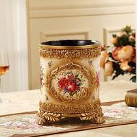 果盘欧式纸巾盒花瓶工艺品套装结婚乔迁复古家居装饰树脂摆件