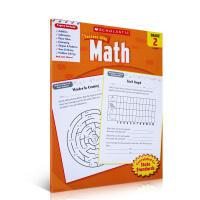 华研原版 美国小学二年级数学练习册 英文原版书 正版进口英语教材 Scholastic Success with Ma