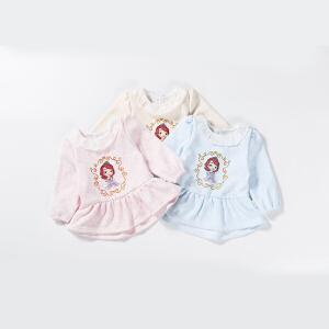 【卷后139元3件】迪士尼Disney四季甜美娃娃领公主衫加绒保暖长袖上衣外出服153S740