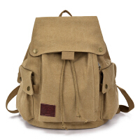 双肩包女帆布运动休闲男士女士背包韩版潮大中学生书包时尚旅行包