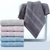[当当自营]三利 纯棉素色良品缎档毛巾超值6条装33×70cm 柔软吸水洗脸面巾 每条均独立包装