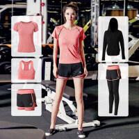 韩版时尚健身瑜伽套装户外运动跑步服宽松速干衣显瘦 女专业运动健身房服装
