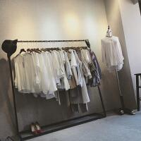 简易个性衣服服装架落地式陈列架侧挂服装店挂衣架服装展示架货架 其他