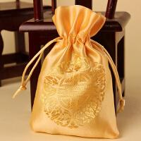 2018年婚庆婚礼喜糖盒结婚用品糖盒喜糖袋锦缎喜糖袋子糖果袋手拎袋批�l