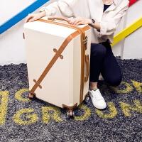 行李箱男潮万向轮韩版28寸24个性20大学生密码箱子旅行箱女拉杆箱 777#米白色/单箱 20寸【终身售后质保】
