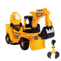 小童挖土机挖车儿童玩具车可坐人1-3岁电动游乐园惯性塑料骑行电抖音 官方标配