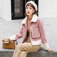 森系毛呢外套短款2018冬季新款韩版小矮个子流行呢子大衣女学生潮