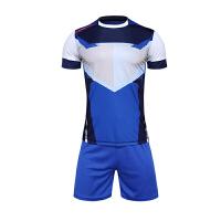 新款运动足球服套装男短袖组队训练足球衣光板足球队服定制 透气吸汗