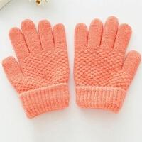 秋冬新款儿童五指手套女童分指手套女孩公主女童加厚保暖全指手套 建议3-12岁宝宝