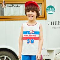 暇步士童装男童背心夏装新款儿童上衣无袖卡通薄小童宝宝T恤