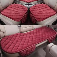 汽车坐垫冬季短毛绒无靠背三件套防滑单片保暖座椅垫可爱女神用品