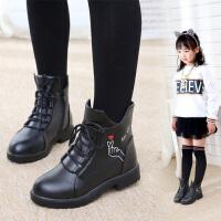 儿童马丁靴女童短靴2018新款中大童韩版加绒棉靴女童靴子雪地冬鞋