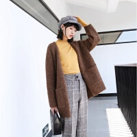 薄款羊绒混纺半高领打底衫女长袖秋冬套头针织衫 均码