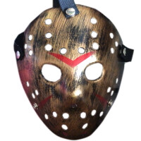 万圣节恐怖杀手面具杰森面罩舞会派对演出用品COS表演道具鬼脸色抖音